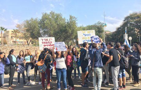 התלמידים בנופי גולן יצאו להפגנה והמועצות תומכות במאבקם
