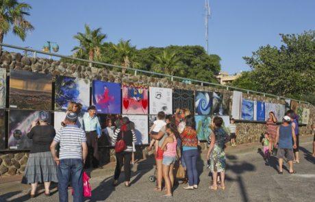 הפתיחה לתערוכת הרחוב ה-12 בקצרין