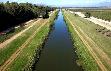 הושלמה הגבהת הסוללה בתעלה המזרחית של הירדן