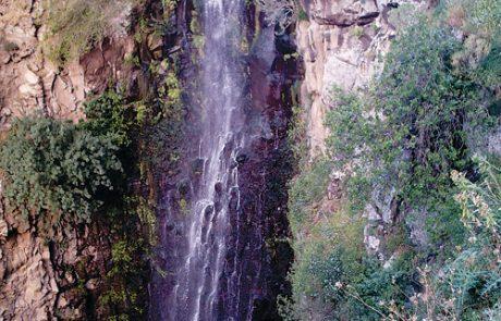 שני מפלים  בנחל גִילבּוֹן