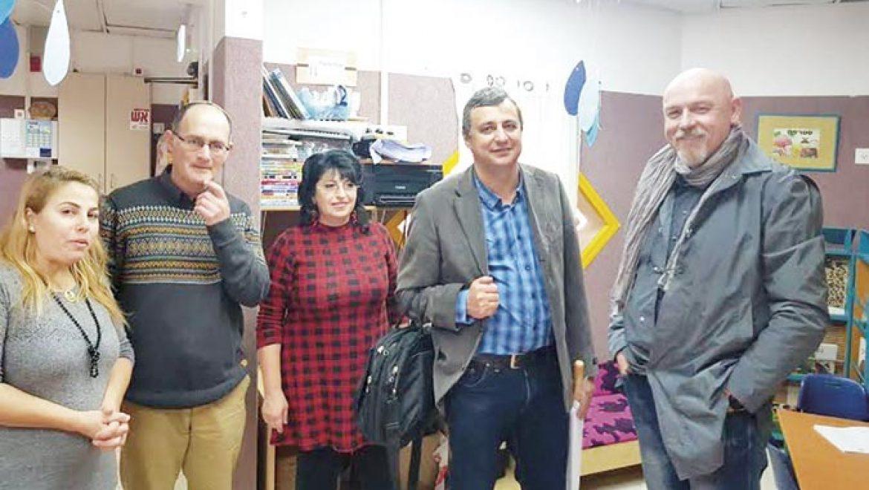 """ביקור ד""""ר בילוביצקי מרכז המגשרים"""