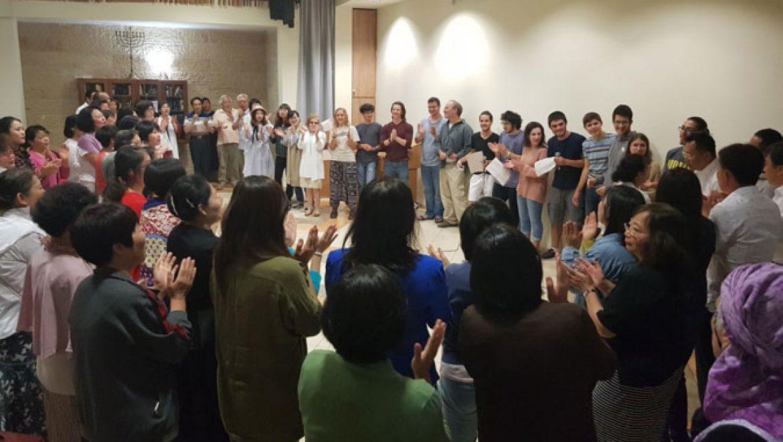 קבוצת סינים הגיעו לביקור בגולן