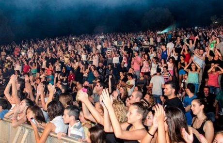 יהודה פוליקר במופע סיום בלתי נשכח לפסטיבל לילות ירח בגולן