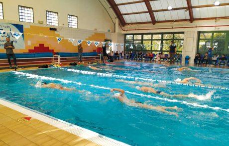 נבחרת השחייה של ישראל באימון בקצרין